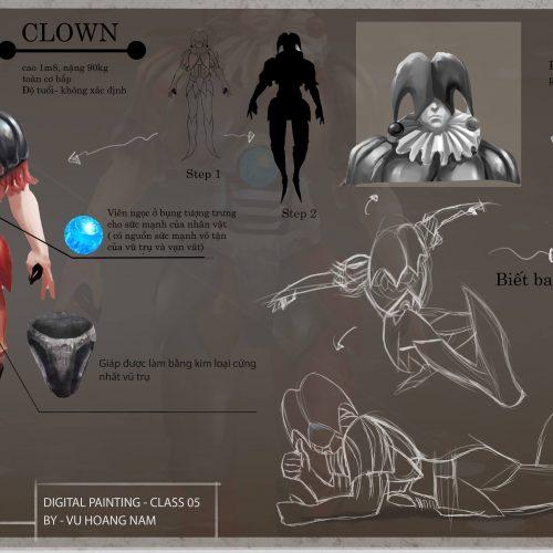 Clown Design by Vũ Hoàng Nam